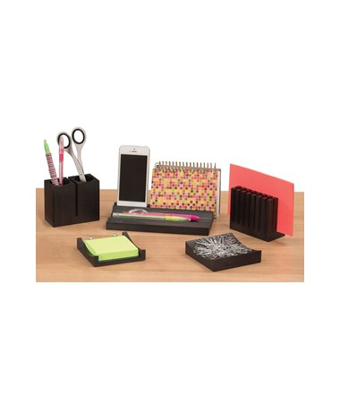 Safco Wood Desk Organizer Set 3282BL