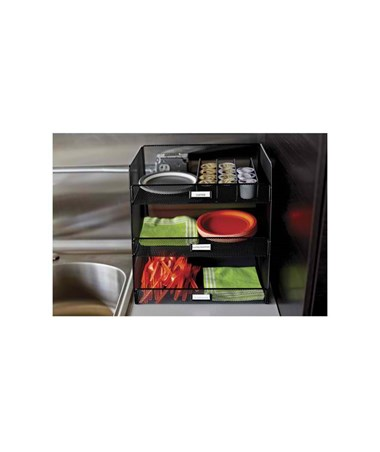 Safco Onyx Break Room Organizer 3293BL