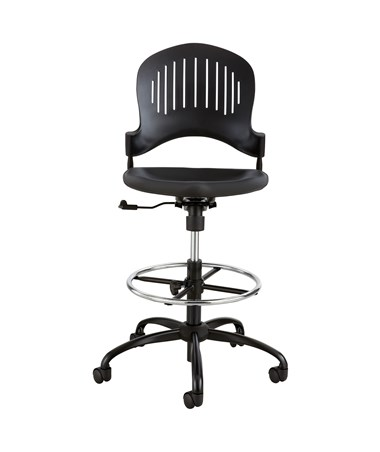 Safco Zippi Plastic Extended-Height Chair SAF3386BL
