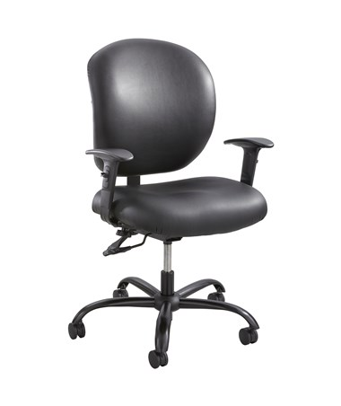 Safco Alday 24/7 Task Chair Vinyl 3391BV (with T-pad arms 3399BL)