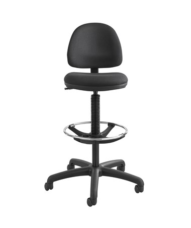 Safco Precision Drafting Chair with Footring Black 3401BL