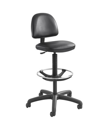 Safco Precision Drafting Chair with Footring Black Vinyl 3406BL