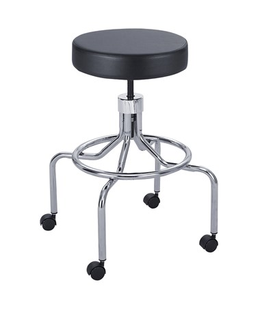 Safco High Base Lab Stool with Screw Height Adjustment SAF3433BL