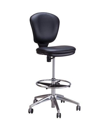 Safco Metro Extended Height Chair, Black Vinyl SAF3442BV