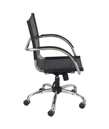 Safco Flaunt Managers Black Leather Chair 3456BL