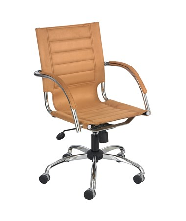 Safco Flaunt Managers Camel Microfiber Chair 3456CM