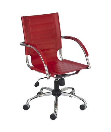 Safco Flaunt Managers Red Leather Chair 3456RD