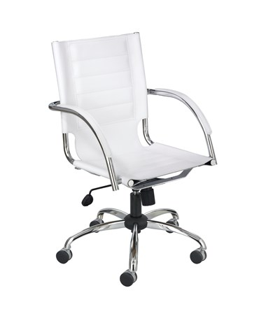 Safco Flaunt Managers White Leather Chair 3456WH