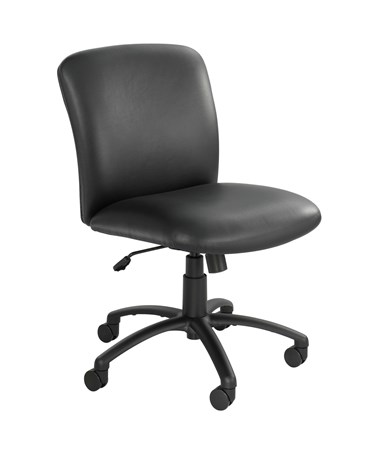 Safco Uber Big and Tall Mid-Back Chair Black Vinyl 3491BV