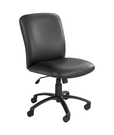 Safco Uber Big and Tall High-Back Chair Black Vinyl 3490BV