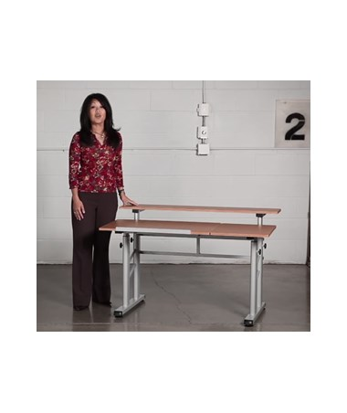 Safco Height Adjustable Split Level Drafting Table SAF3965MO. Item Thumb
