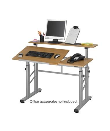Safco Height Adjustable Split Level Drafting Table Tiger