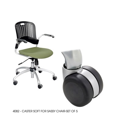 Safco Soft Casters for Sassy Chair SAF4082BL