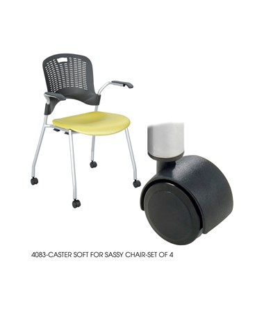 Safco Soft Hooded Casters for Sassy Stack Chair 4083BL