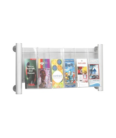 Safco Luxe 3-Pocket Magazine Rack with Dividers