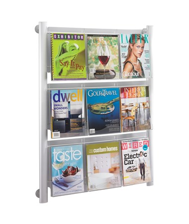 Safco Luxe 9-Pocket Magazine Rack