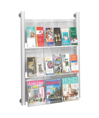 Safco Luxe 9-Pocket Magazine Rack with Dividers
