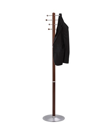 Safco 8-Hook Wood Coat Rack Cherry 4193CY