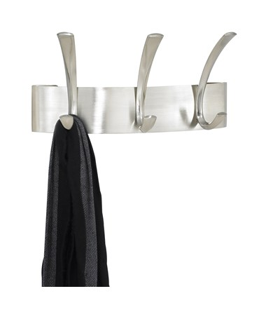 Safco Metal Silver Coat Rack (Qty. 6), Three Hooks SAF4204SL
