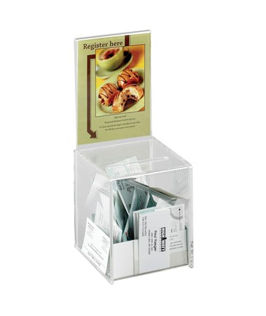 4235CL Safco Small Clear Acrylic Collection Box
