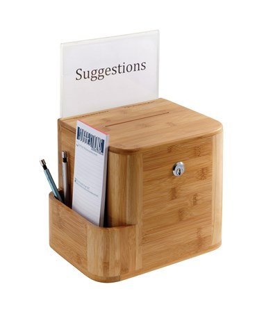 Safco Bamboo Suggestion Box natural 4237NA