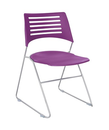 Safco Pique Stack Chair Plum 4289PLSL
