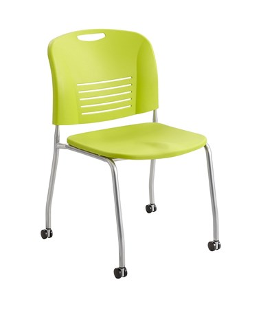 Safco Vy Straight Leg Chair with Casters Grass 4291GS