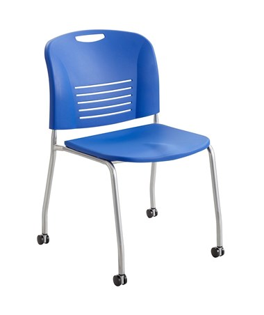 Safco Vy Straight Leg Chair with Casters Lapis 4291LA