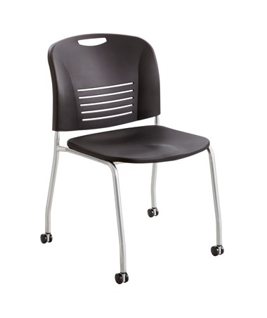 Safco Vy Straight Leg Chair with Casters (Qty. 2) SAF4291BL-