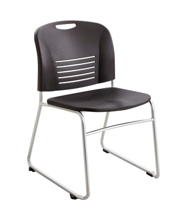 Safco Vy Desk-Height Sled Base Chair (Qty. 2) SAF4292BL-