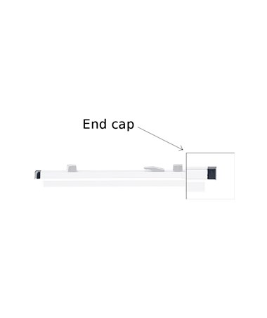 Safco Replacement Black End Cap for Safco Hanging Clamps SAF430113