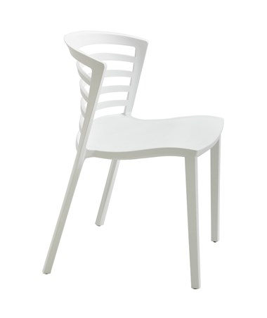 Safco Entourage Stack Chair White 4359WH