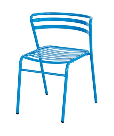 Safco CoGo Steel Outdoor/Indoor Stack Chair Blue 4360BU
