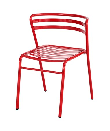 Safco CoGo Steel Outdoor/Indoor Stack Chair Red 4360RD