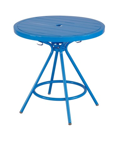 Safco CoGo Steel Outdoor/Indoor Round Table Blue