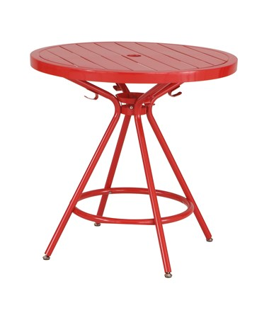 Safco CoGo Steel Outdoor/Indoor Round Table Red