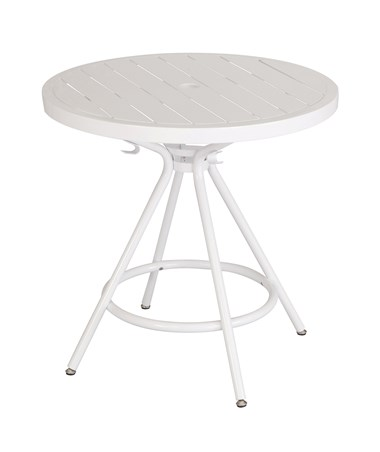 Safco CoGo Steel Outdoor/Indoor Round Table White