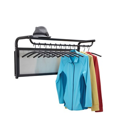 Safco Impromptu Coat Wall Rack with Hangers Black 4604BL