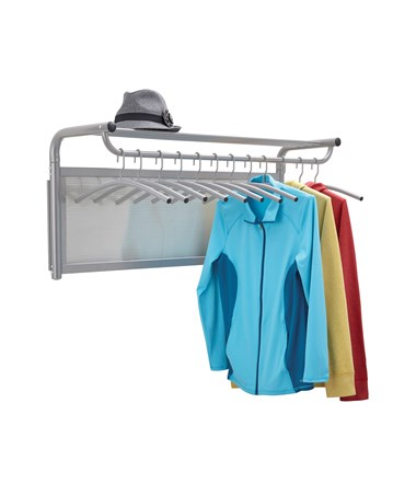 Safco Impromptu Coat Wall Rack with Hangers Gray 4604GR