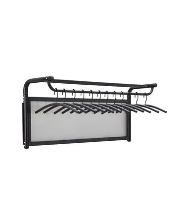 Safco Impromptu Coat Wall Rack with Hangers SAF4604BL-