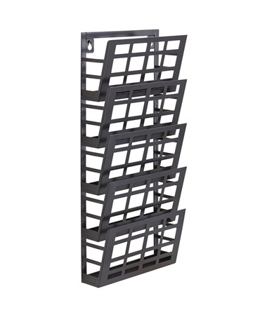 Safco 5-Pocket Grid Magazine Rack 4661BL