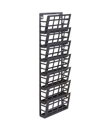 Safco 5-Pocket Grid Magazine Rack 4662BL
