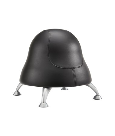 Safco Runtz Ball Chair, Black Vinyl