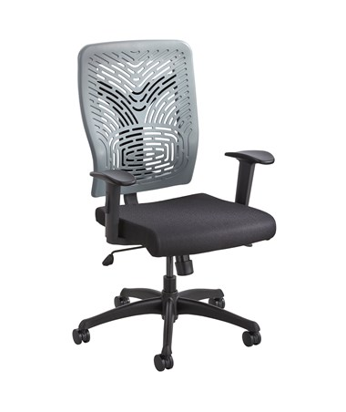 Safco Voice Series Plastic Back Task Chair Charcoal 50585CH