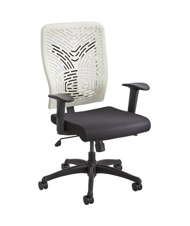 Safco Voice Series Plastic Back Task Chair Latte 50585LT