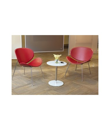 Safco Tempered Glass Accent Table SAF5095BL-