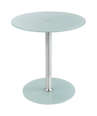 Safco White Tempered Glass Accent Table SAF5095WH