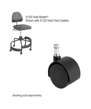 "2"" Hard Floor Casters with Safco Task Master Industrial Chair"