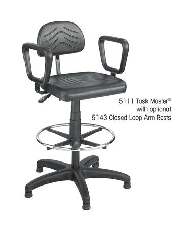 Closed Loop Armrest with a Safco Task Master Chair