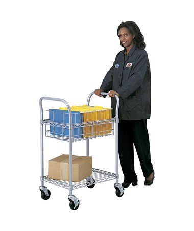 Safco Wire Mail Cart SAF52355